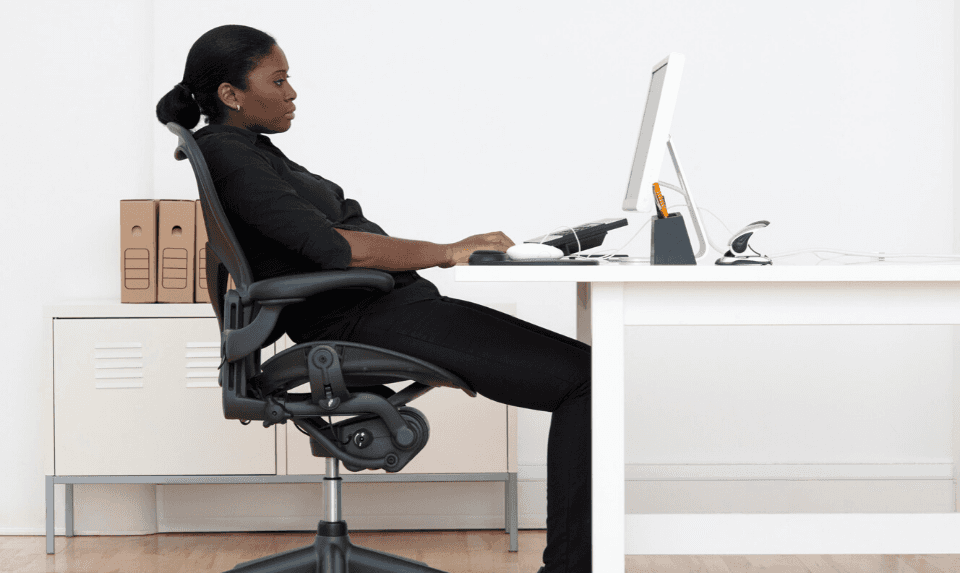 Slouched positions can cause sciatica pain to get worse.
